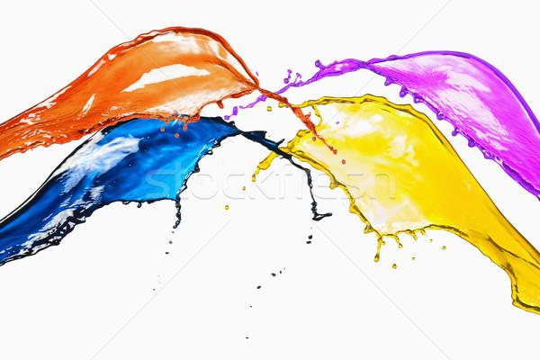 Sıçrama farklı renk turuncu renkler hareket Stok fotoğraf © imagedb