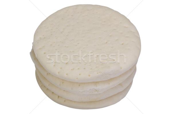 Pizza fast food cirkel witte achtergrond Stockfoto © imagedb