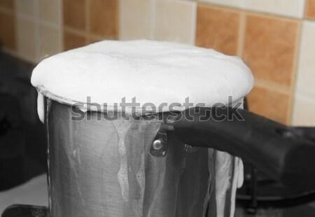 Stok fotoğraf: Süt · ev · mutfak · enerji · pişirme · konteyner