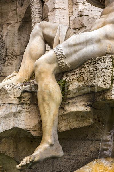 Fuente Roma arte estatua historia escultura Foto stock © imagedb
