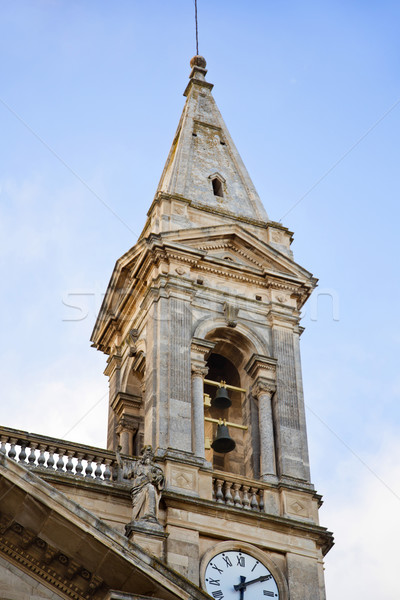 Low angle view of a bell tower of a cathedral Stock photo © imagedb
