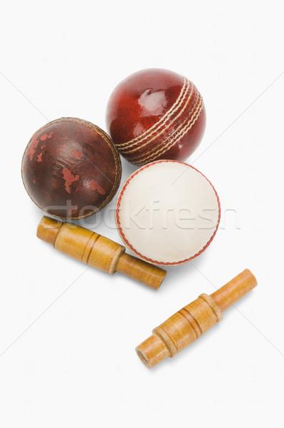 Kriket ahşap kırmızı deri Stok fotoğraf © imagedb