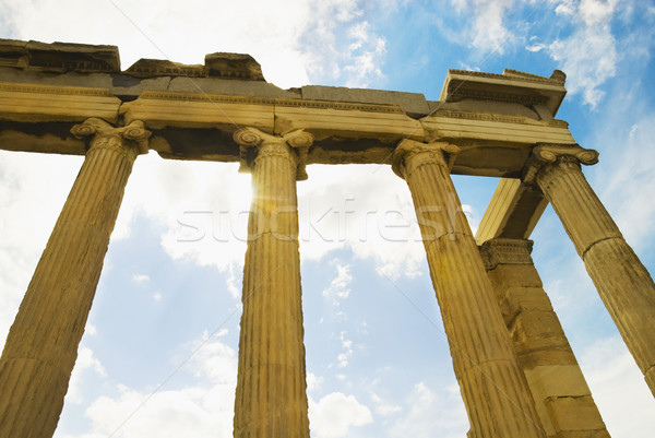 Ver Acrópole Atenas Grécia céu Foto stock © imagedb