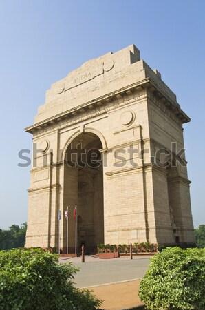 Növények átjáró India kapu Új-Delhi út Stock fotó © imagedb