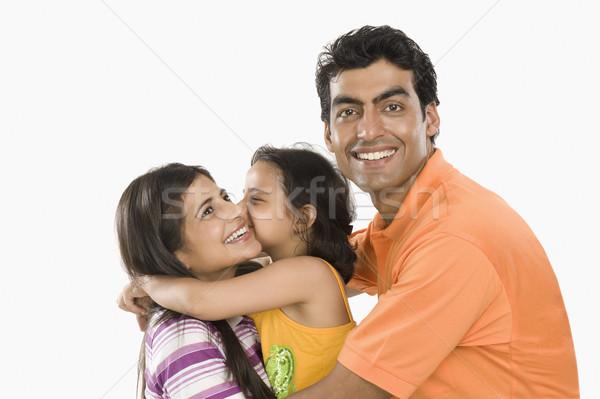 семьи улыбаясь счастливым портрет 20-х годов Сток-фото © imagedb
