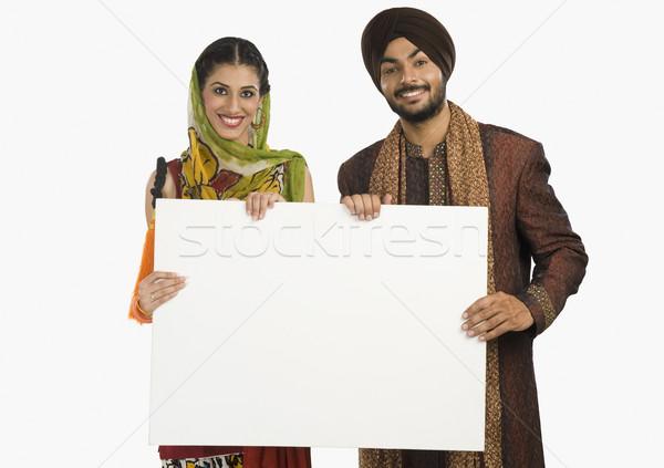 Retrato sikh casal comunicação branco Foto stock © imagedb