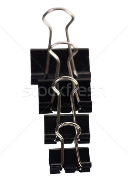 бизнеса черный скрепку крупным планом вертикальный Сток-фото © imagedb