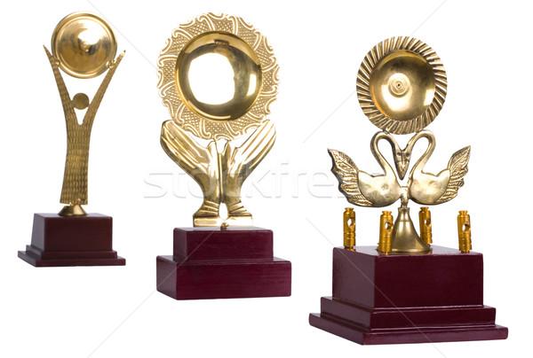 Közelkép trófeák fém antik játékok trófea Stock fotó © imagedb
