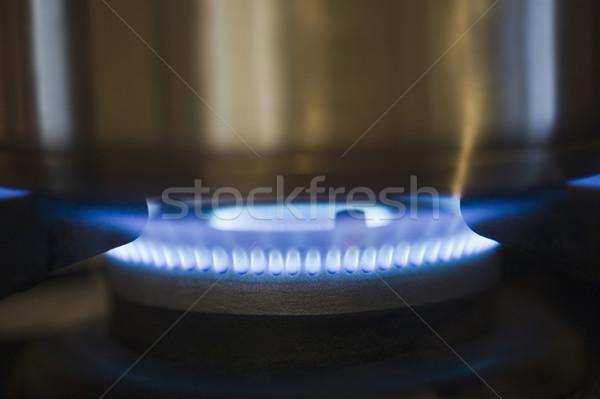 Panela alto fogão azul cozinhar Foto stock © imagedb