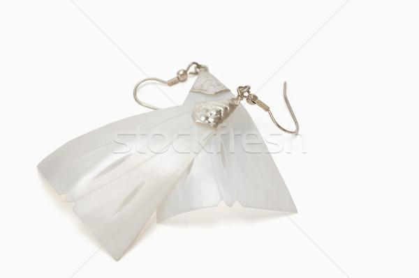 Paar oorbellen ontwerp sieraden fotografie Stockfoto © imagedb