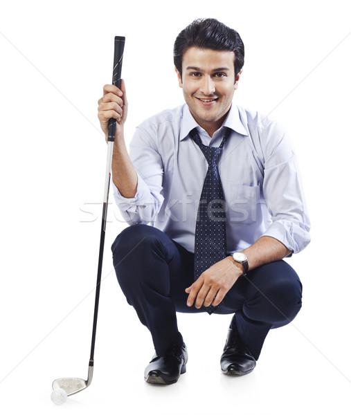 портрет бизнесмен гольф клуба человека Сток-фото © imagedb