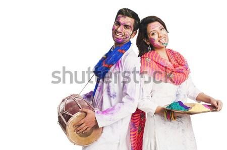 çift alışveriş portre ayakta Stok fotoğraf © imagedb
