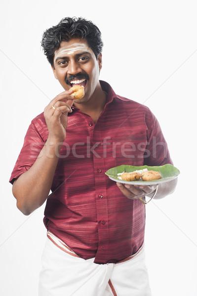 Güney Hint adam gülen ayakta 20s Stok fotoğraf © imagedb