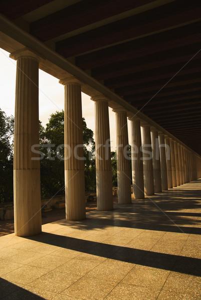 Foto stock: Antigo · museu · Atenas · Grécia · céu · viajar