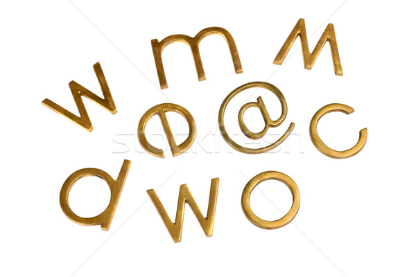 Internet símbolos tecnologia metal grupo comunicação Foto stock © imagedb