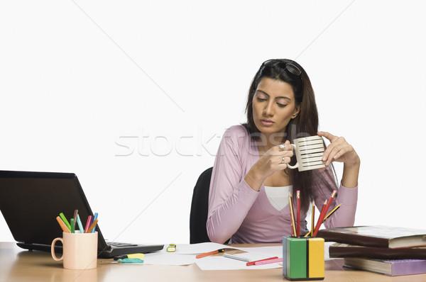Сток-фото: женщины · моде · дизайнера · рабочих · служба · питьевой