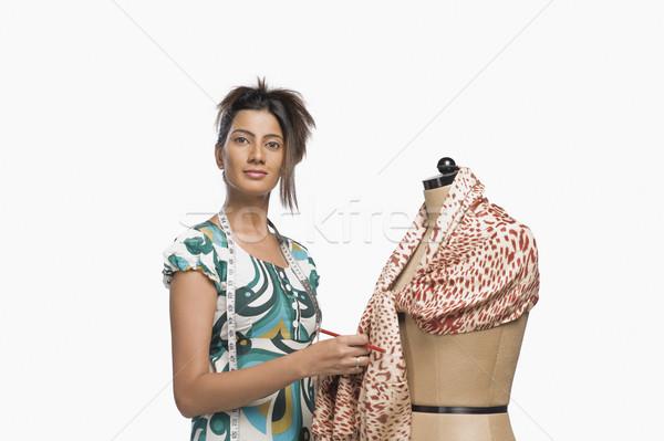 женщины моде дизайнера платье манекен Постоянный Сток-фото © imagedb