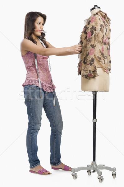 женщины моде дизайнера платье манекен карандашом Сток-фото © imagedb