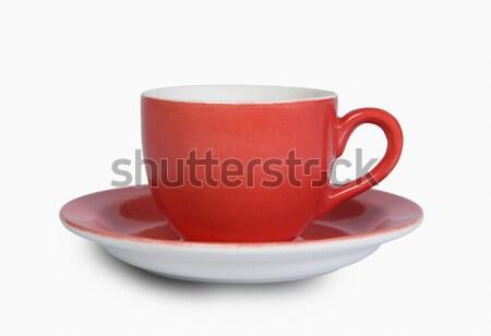 Közelkép teáscsésze csészealj terv tányér tiszta Stock fotó © imagedb