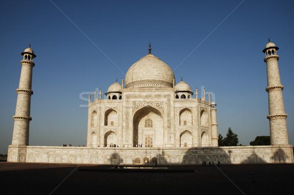 Homlokzat mauzóleum fehér torony vallás iszlám Stock fotó © imagedb