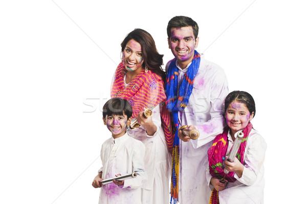 Aile festival çocuk eğlence baba Stok fotoğraf © imagedb