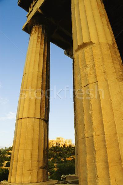 Starożytnych świątyni Partenon Akropol Ateny Grecja Zdjęcia stock © imagedb