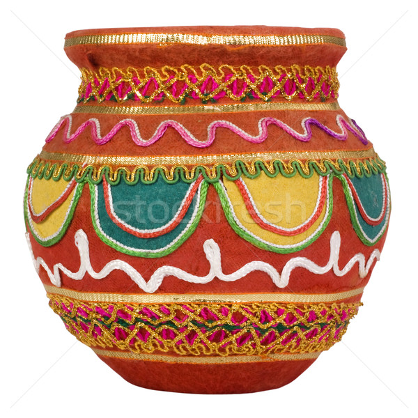 Dekorativ Topf Kunst Muster Dekoration Stock foto © imagedb