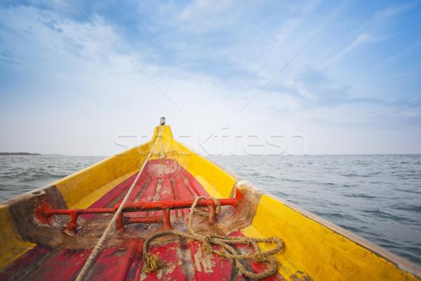 Fishing boat in the sea, Pondicherry, India Stock photo © imagedb