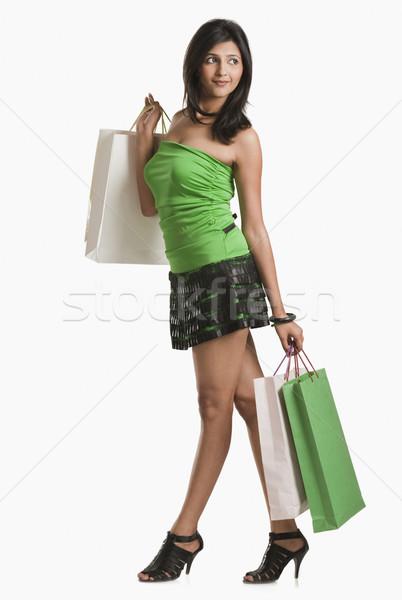Kadın gülen alışveriş güzellik Stok fotoğraf © imagedb