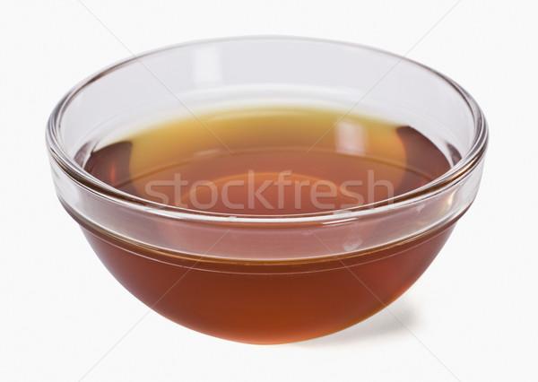 クローズアップ 食用油 ボウル 油 脂肪 水平な ストックフォト © imagedb