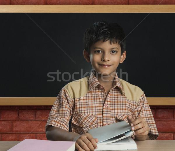 少年 教師 教室 子 教育 表 ストックフォト © imagedb