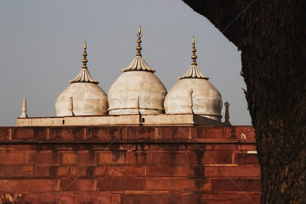 Alulról fotózva kilátás erőd fal történelem iszlám Stock fotó © imagedb