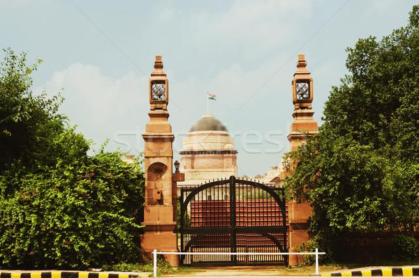 Intrare guvern constructii prezidential palat new delhi Imagine de stoc © imagedb