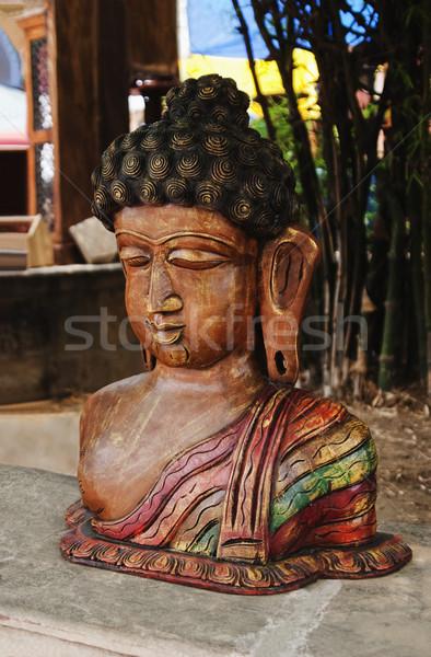 Primer plano estatua Buda nueva delhi India fe Foto stock © imagedb