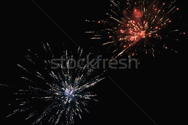 фейерверк отображения ночь небе события фотографии Сток-фото © imagedb