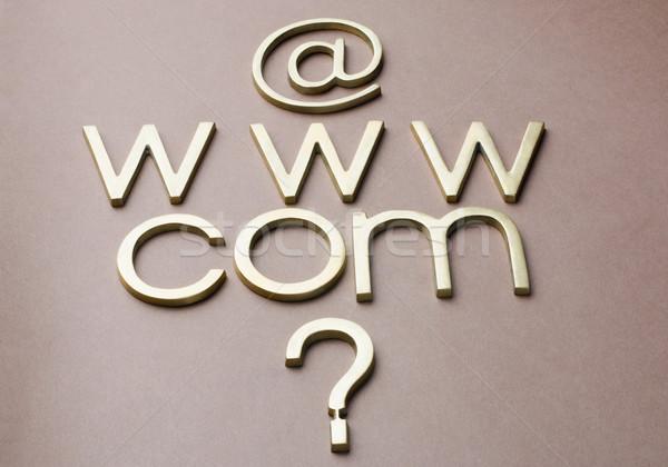 Interrogation internet symboles affaires technologie réseau Photo stock © imagedb