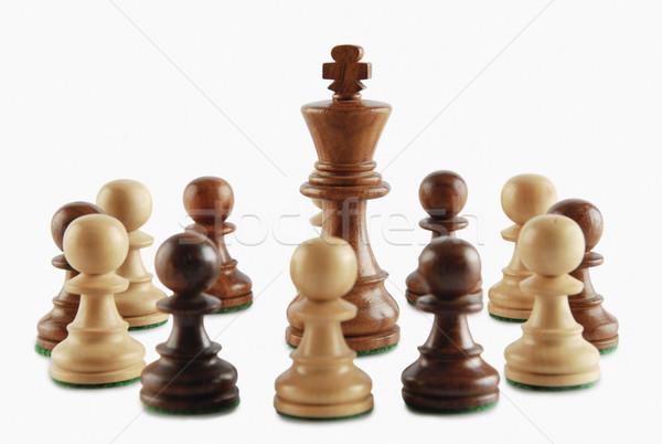 Király sakk csoport jókedv játék fotózás Stock fotó © imagedb