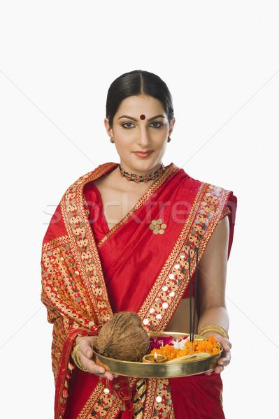 женщину традиционный религиозных предлагающий портрет Сток-фото © imagedb