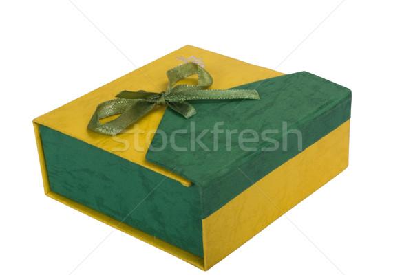 Hediye kutusu kutu hediye sunmak şerit Stok fotoğraf © imagedb