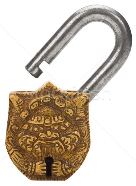 замок дизайна блокировка Vintage безопасности Сток-фото © imagedb
