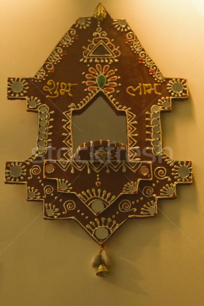Primer plano altar pared diseno fotografía decoración Foto stock © imagedb
