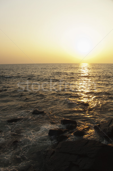 Part naplemente Goa India égbolt tenger Stock fotó © imagedb