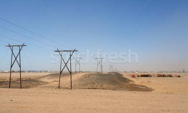 пустыне промышленности Намибия Африка Storm власти Сток-фото © imagex