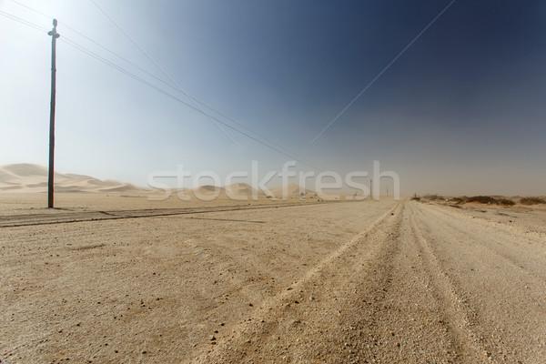 砂漠 交通 ナミビア アフリカ 旅行 嵐 ストックフォト © imagex