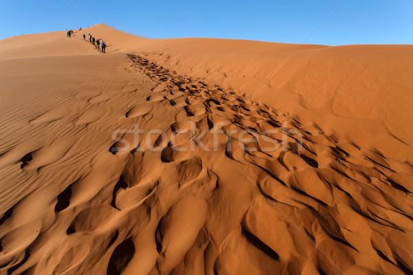 Duna no Namibia 2013 turistas subir Foto stock © imagex