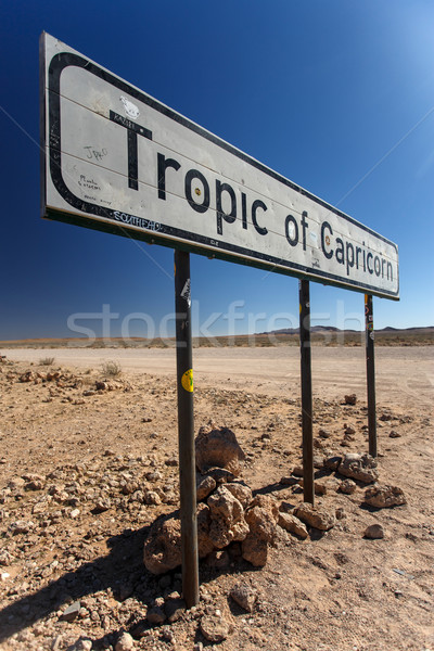 Tropic of Capricorn at Sossusvlei, Namibia Stock photo © imagex