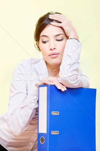 woman with files Stock photo © imarin