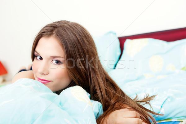 Girl in bedroom Stock photo © imarin