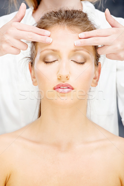 woman on head massage Stock photo © imarin