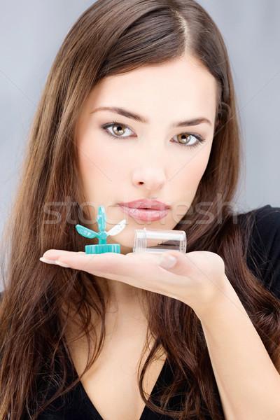 女性 洗浄 コンテナ 若い女性 ストックフォト © imarin